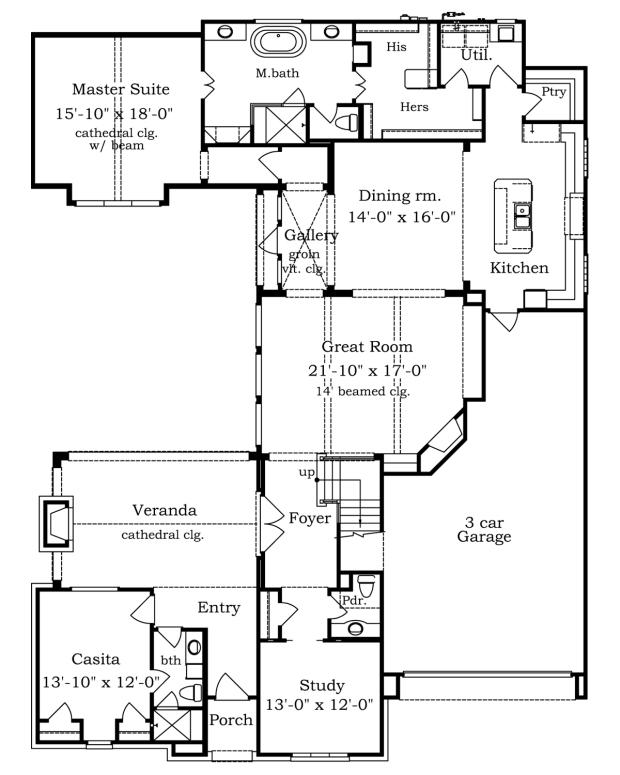 first-floor Florida Courtyard Home Floor Plans on florida pool home plans, florida duplex plans, florida house plans,