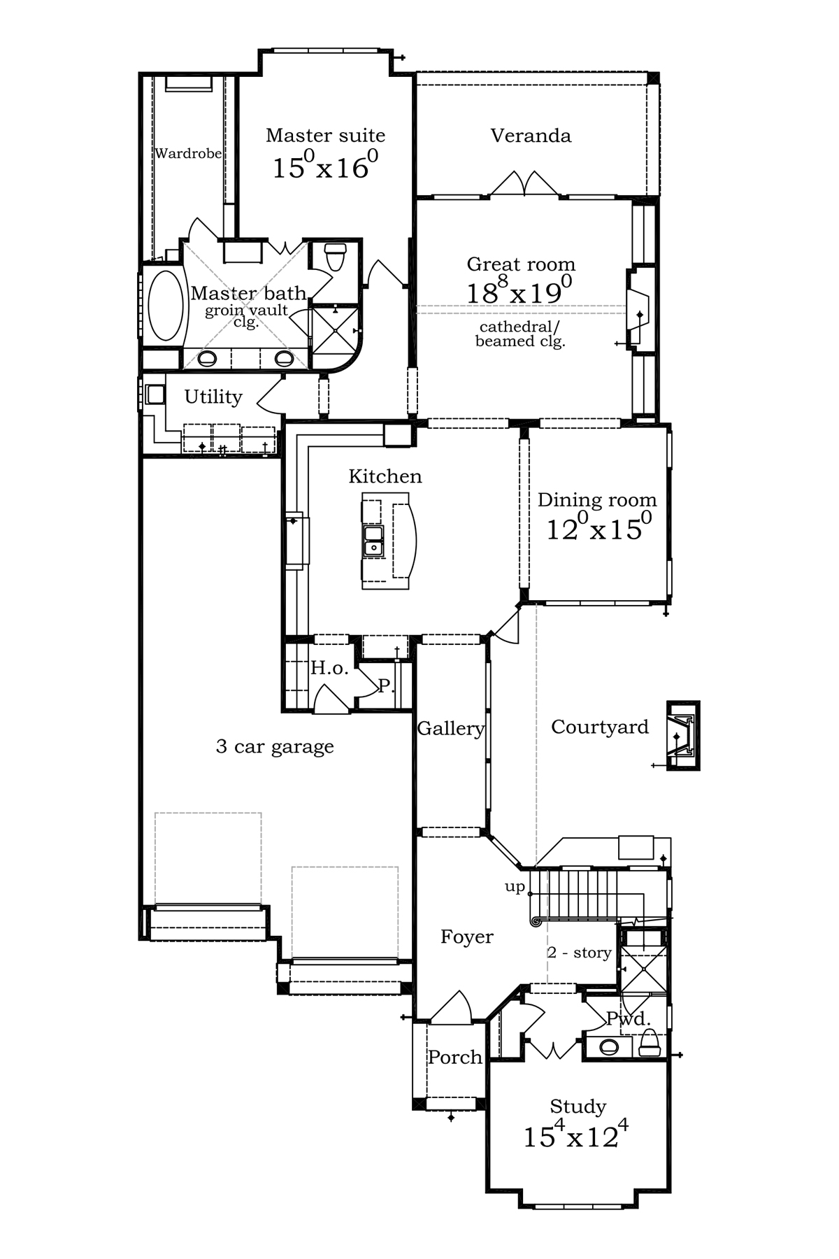 New csch homes available in lake pointe sims luxury for Tandem garage house plans